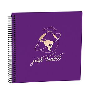 Spiral Piccolino black plum, Just Travel Edition, 20 pages photo mounting board