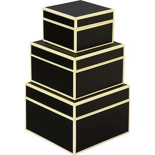Set of 3 Gift Boxes, small, black