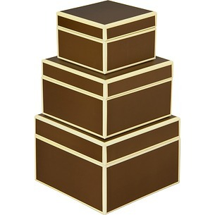 Set of 3 Gift Boxes, small, brown