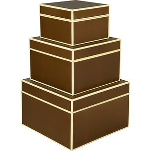 Set of 3 Gift Boxes, large, brown