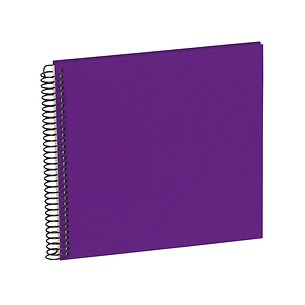 Sprial Piccolino, 20 cream white pages, efalin cover, plum