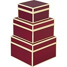 Set of 3 Gift Boxes, small, burgundy