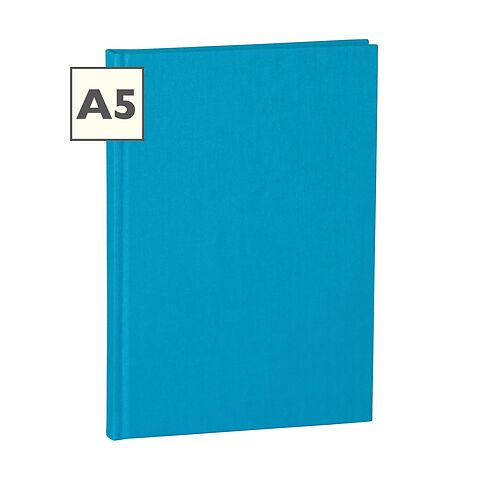 Notebook Classic (A5) ruled, book linen cover, 160 pages, turquoise