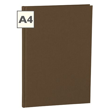 Notebook Classic (A4) book linen cover, 160 pages, ruled, brown