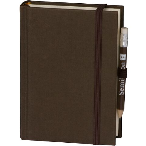 Travel Diary Petit Voyage, 304 pages of laid paper, plain, brown
