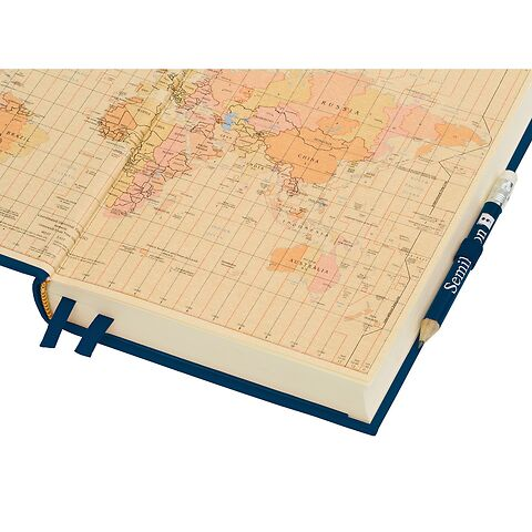 Travel Diary Petit Voyage, 304 pages of laid paper, plain, lime