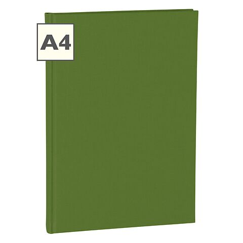 Notebook Classic (A4) book linen cover, 160 pages, plain, irish