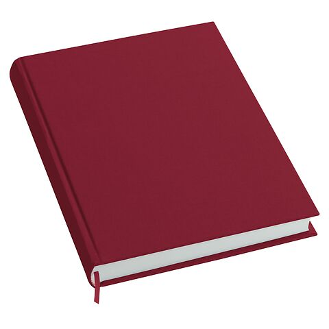 Notebook History Classic (A4) book linen cover, 160 pages, plain, burgundy