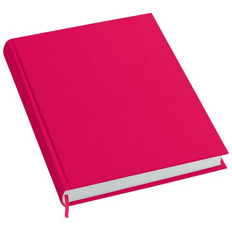 Notebook History Classic (A4) book linen cover, 160 pages, plain, pink