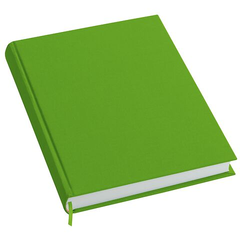 Notebook History Classic (A4) book linen cover, 160 pages, plain, lime