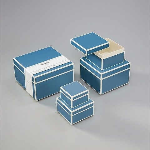 Set of 5 Gift Boxes, turquoise