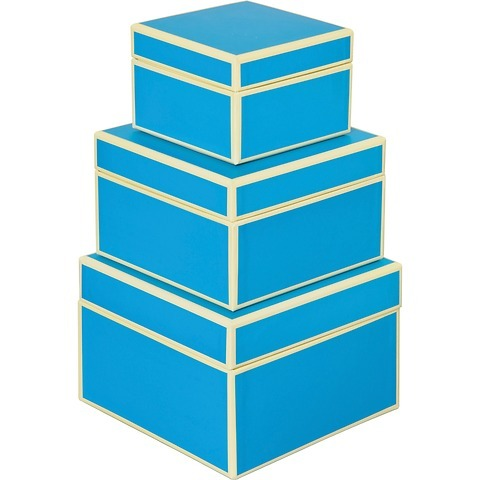 Set of 3 Gift Boxes, small, turquoise