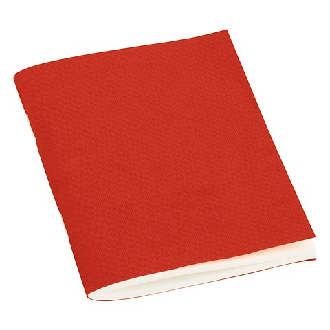 Filigrane Journal A7 with laid paper, 64 pages, plain, red