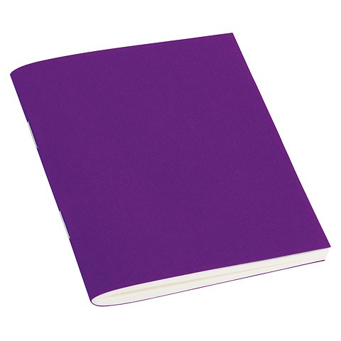 Filigrane Journal A7 with laid paper, 64 pages, plain, plum