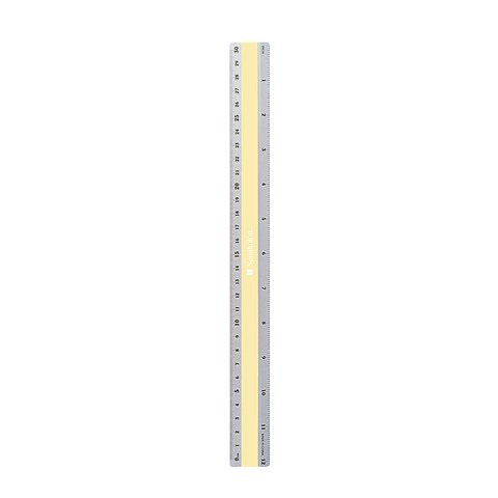Aluminum Ruler 30cm, measurement in cm and inch, cha