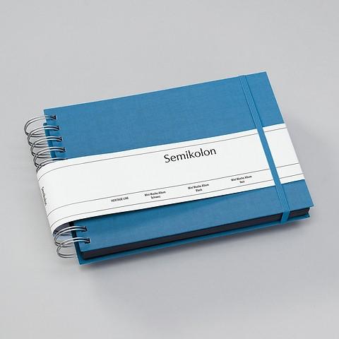 Mini Mucho Album, black Pages, azzurro
